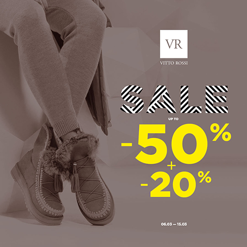 4fb6bcefffcbd7 До 15 березня отримайте додаткові -20% до знижок до 50% на взуття минулої  колекції! У салоні Vitto Rossi ви знайдете найбільший вибір зимового та ...
